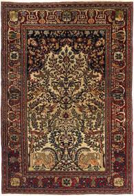 Isfahan Antikke Teppe 140X205 Ekte Orientalsk Håndknyttet Mørk Brun/Lysbrun (Ull, Persia/Iran)
