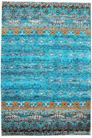 Quito - Turquoise Teppe 190X290 Ekte Moderne Håndknyttet Turkis Blå/Blå (Silke, India)