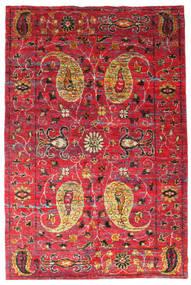 Vega Sari Silke Teppe 200X300 Ekte Moderne Håndknyttet Rød/Rust (Silke, India)