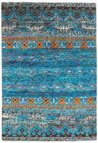 Quito - Turquoise Teppe 160X230 Ekte Moderne Håndknyttet Turkis Blå/Mørk Grå (Silke, India)