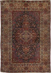 Isfahan Antikke Teppe 147X215 Ekte Orientalsk Håndknyttet Mørk Rød/Mørk Brun (Ull, Persia/Iran)
