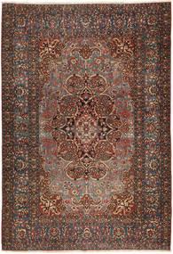 Isfahan Antikke Teppe 138X207 Ekte Orientalsk Håndknyttet Mørk Brun/Mørk Rød (Ull, Persia/Iran)