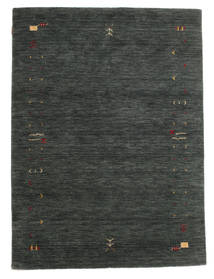 Gabbeh Loom Frame - Mørk Grå/Grønn Teppe 140X200 Moderne Mørk Grønn/Mørk Grønn (Ull, India)