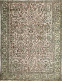 Colored Vintage Teppe 280X360 Ekte Moderne Håndknyttet Lys Grå/Olivengrønn Stort (Ull, Persia/Iran)