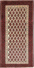 Beluch Teppe 100X200 Ekte Orientalsk Håndknyttet Mørk Rød/Mørk Brun (Ull, Persia/Iran)