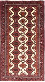 Beluch Teppe 93X173 Ekte Orientalsk Håndknyttet Mørk Rød/Beige (Ull, Persia/Iran)