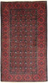 Beluch Teppe 105X180 Ekte Orientalsk Håndknyttet Mørk Rød/Mørk Brun (Ull, Persia/Iran)