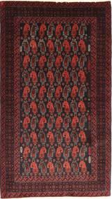 Beluch Teppe 110X195 Ekte Orientalsk Håndknyttet Mørk Rød/Mørk Brun (Ull, Persia/Iran)