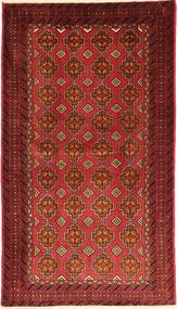 Beluch Teppe 105X185 Ekte Orientalsk Håndknyttet Mørk Rød/Rust (Ull, Persia/Iran)