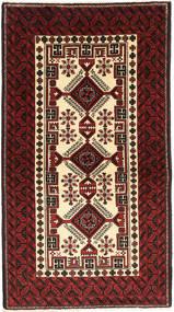 Beluch Teppe 100X180 Ekte Orientalsk Håndknyttet Mørk Rød/Mørk Brun (Ull, Persia/Iran)