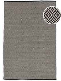 Diamond - Svart Teppe 160X230 Ekte Moderne Håndvevd Lys Grå/Mørk Grå (Bomull, India)