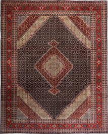 Ardebil Teppe 300X376 Ekte Orientalsk Håndknyttet Mørk Brun/Mørk Rød Stort (Ull, Persia/Iran)