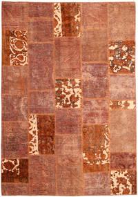 Patchwork Teppe 166X243 Ekte Moderne Håndknyttet Rød/Mørk Rød (Ull, Persia/Iran)