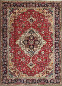 Tabriz Patina Teppe 203X288 Ekte Orientalsk Håndknyttet Mørk Rød/Mørk Brun (Ull, Persia/Iran)