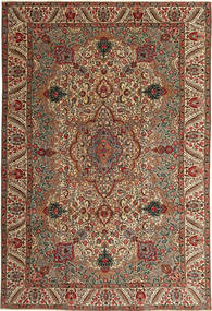 Tabriz Patina Teppe 217X323 Ekte Orientalsk Håndknyttet Mørk Brun/Lysbrun (Ull, Persia/Iran)