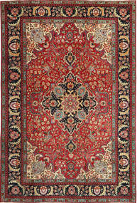 Tabriz Patina Teppe 205X305 Ekte Orientalsk Håndknyttet Mørk Rød/Mørk Brun (Ull, Persia/Iran)
