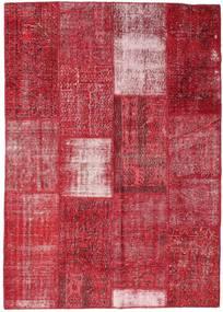 Patchwork Teppe 160X226 Ekte Moderne Håndknyttet Rød/Rust (Ull, Tyrkia)