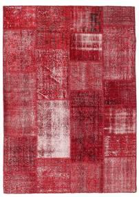 Patchwork Teppe 163X229 Ekte Moderne Håndknyttet Rød/Mørk Rød (Ull, Tyrkia)