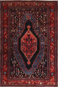 Senneh Teppe 120X190 Ekte Orientalsk Håndknyttet Mørk Rød (Ull, Persia/Iran)