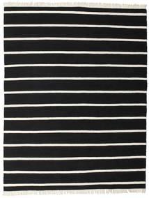 Dorri Stripe - Svart/Vit Teppe 200X250 Ekte Moderne Håndvevd Svart (Ull, India)