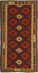 Kelim Maimane Teppe 97X198 Ekte Orientalsk Håndvevd Mørk Brun/Mørk Rød (Ull, Afghanistan)