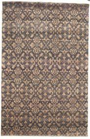 Damask Teppe 170X263 Ekte Moderne Håndknyttet Lys Grå/Lysbrun ( India)