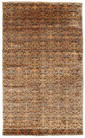 Damask Teppe 183X302 Ekte Moderne Håndknyttet Brun/Lysbrun ( India)