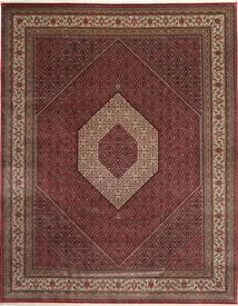 Bidjar Indisk Teppe 303X392 Ekte Orientalsk Håndknyttet Mørk Rød/Brun Stort (Ull, India)