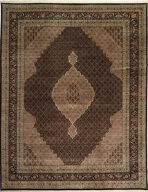 Tabriz Royal Mahi Teppe 305X391 Ekte Orientalsk Håndknyttet Mørk Brun/Brun Stort ( India)