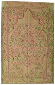 Colored Vintage Teppe 183X284 Ekte Moderne Håndknyttet Lysbrun/Lysgrønn (Ull, Tyrkia)