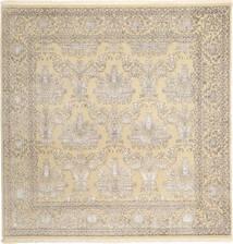 Tabriz Royal Magic Teppe 203X203 Ekte Orientalsk Håndknyttet Kvadratisk Beige/Lys Grå ( India)