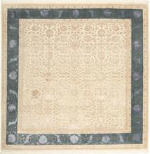 Tabriz Royal Magic Teppe 203X203 Ekte Orientalsk Håndknyttet Kvadratisk Beige/Mørk Beige ( India)