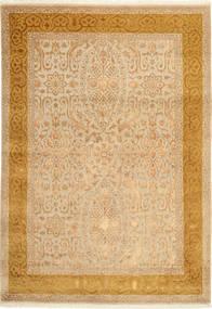 Tabriz Royal Magic Teppe 169X245 Ekte Orientalsk Håndknyttet Mørk Beige/Lysbrun/Beige ( India)