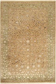 Tabriz Royal Magic Teppe 200X304 Ekte Orientalsk Håndknyttet Lysbrun/Mørk Beige ( India)