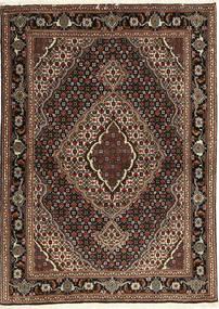 Tabriz 40 Raj Teppe 107X149 Ekte Orientalsk Håndknyttet Mørk Rød/Mørk Brun (Ull/Silke, Persia/Iran)
