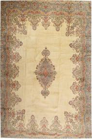 Kerman Teppe 405X605 Ekte Orientalsk Håndknyttet Lysbrun/Beige Stort (Ull, Persia/Iran)