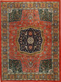 Tabriz Teppe 298X389 Ekte Orientalsk Håndknyttet Mørk Grå/Rust Stort (Ull, Persia/Iran)
