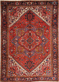 Heriz Teppe 251X352 Ekte Orientalsk Håndknyttet Mørk Rød/Rust Stort (Ull, Persia/Iran)