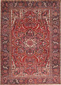 Heriz Teppe 246X340 Ekte Orientalsk Håndknyttet Mørk Rød/Mørk Brun (Ull, Persia/Iran)