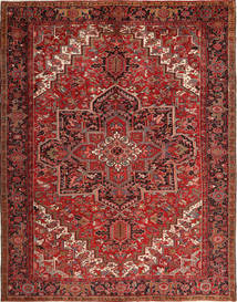 Heriz Teppe 293X380 Ekte Orientalsk Håndknyttet Mørk Rød/Mørk Brun Stort (Ull, Persia/Iran)