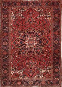 Heriz Teppe 262X358 Ekte Orientalsk Håndknyttet Mørk Rød/Mørk Brun Stort (Ull, Persia/Iran)