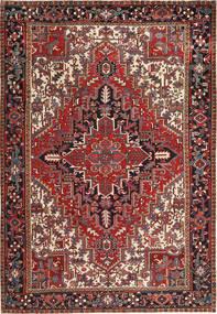 Heriz Teppe 223X323 Ekte Orientalsk Håndknyttet Mørk Rød/Svart (Ull, Persia/Iran)