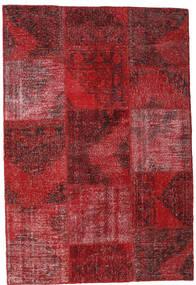 Patchwork Teppe 158X232 Ekte Moderne Håndknyttet Mørk Rød/Rød (Ull, Tyrkia)