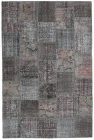 Patchwork Teppe 198X300 Ekte Moderne Håndknyttet Mørk Grå/Lys Grå (Ull, Tyrkia)