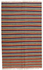Kelim Teppe 125X200 Ekte Orientalsk Håndvevd Lysbrun/Mørk Rød (Ull, Persia/Iran)