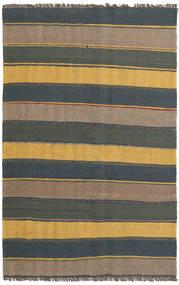 Kelim Teppe 127X198 Ekte Orientalsk Håndvevd Mørk Grå/Lysbrun (Ull, Persia/Iran)