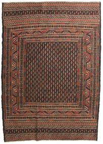 Kelim Golbarjasta Teppe 132X188 Ekte Orientalsk Håndvevd Mørk Brun/Brun (Ull, Afghanistan)