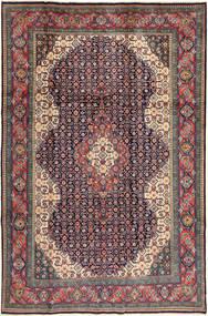 Sarough Teppe 200X305 Ekte Orientalsk Håndknyttet Mørk Grå/Mørk Rød (Ull, Persia/Iran)