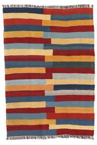 Kelim Teppe 68X96 Ekte Orientalsk Håndvevd Mørk Rød/Lys Grå (Ull, Persia/Iran)