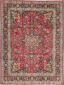 Mashad Teppe 250X338 Ekte Orientalsk Håndknyttet Mørk Rød/Mørk Brun Stort (Ull, Persia/Iran)